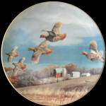 Farmland Covey: Game Birds By David Maass, Danbury Mint