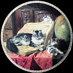 Geographers: Feline Fancy By Ronner, Ws George Plate