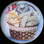 Three Little Kittens: Kathy Duncan Franklin Mint Plate