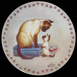 Christmas Mourning: Catnippers, Irene Spencer Plate