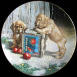 Double Take: Puppy Playtime, Jim Lamb Plate