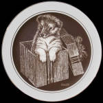 Gift Wrapped: Puppy's World, Droguett, Cornwall Plate