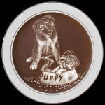 Guest For Dinner: Puppy's World, Droguett Cornwall Plate