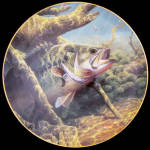 No Sure Thing: Bass Beauties By Mark Susinno Danbury Mint Plate