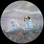 A Moment's Rest: Grand Safari, Charles Frace Plate
