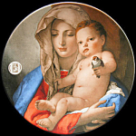 Madonna Of The Goldfinch: Usps Christmas Stamp Plate