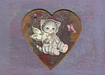 Kitten Fairy Mixed Media Childrens Wall Art