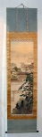 Old 1930 Japanese Painted Landscape Scroll
