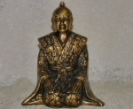 Decorative Bronze Kneeling Samurai