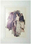 Howard Chandler Christy Print: Victorian Lady & Man, Parlor