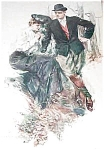 Howard Chandler Christy Print: Victorian Man Lady Arbutus