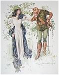 Hc Christy Art Print-scottish Maiden Romance, Knight
