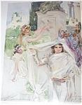 Howard Chandler Christy Print: Religious Gathering, Wedding, Bride