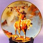 Herman Adams Indian Plate - Spirit Of The South Wind