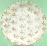 China And Dinnerware - Limoges Gold Fern Pattern Saucer