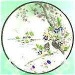 Black Border Oriental Saucer - Birds