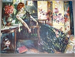 Howard Chandler Christy Print: Memories, Victorian Lady , Parlor