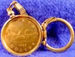 Canada Loon Dollar Coin 1989 - Keychain