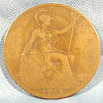 Great Britain One Penny Coin - 1919