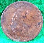 Great Britain 1 Penny Coin - 1862