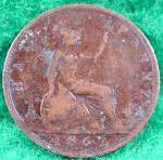 Great Britain 1862 Half Penny Coin