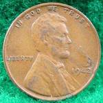 Lincoln Cent 1942 Coin - Cracked Planchet Error