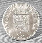 Venezuela 5 Centimos Coin - 1964