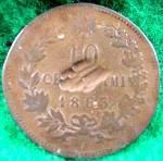 Italy 10 Centesimi Coin - 1863