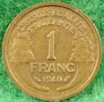 France 1 Franc Coin - 1940
