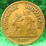 France 2 Franc Coin - 1922