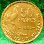 France 50 Franc Coin - 1952