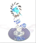 Dolphin Glass Figurine - Leaping Thru Hoop