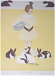 Coles Phillips Print, Girl And Rabbits