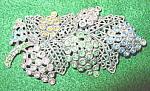 Little Nemo Sash Pin - Filigree Leaf Design - Pot Metal
