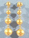 Avon Goldtone Graduated Ball Pierced Earrings