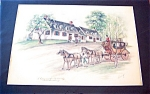 Colonial Colored Pencil Drawing Old Williamsburg Va