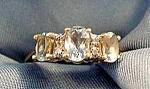 Aquamarine Ladies Ring - 10k Y.g. - Size 6.5