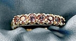 Amethyst 10k Y.g. Ladies Ring - Size 7.25