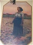 Vintage Original Calendar Art 1927 Song Of The Lark