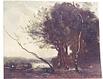 Vintage Country Landscape Print 1930's The Bent Tree