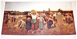 Farm & Country Scene Print: Women Working In The Field