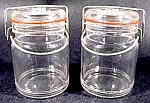 Wire Closure Canning Jar Salt And Pepper Set - Vintage