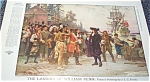 Pilgrims Native Americans Jlg Ferris Illustration William Penn