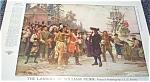 Pilgrims Native Americans Jlg Ferris Illustration William Penn