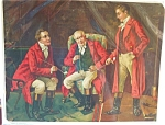 Antique Print Men Smoking Pipes Colonial 1911