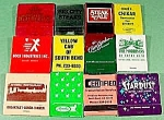 Lot Of 12 Advertising Matchbooks