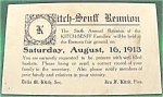 Kitch Senff Family Reunion Post Card - 1913 -