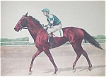 Vintage Prints: Race Horse & Jockey Print