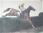 Vintage Prints: Horse Racing Training & Jockey Print
