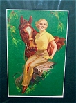 Vintage Pin-up Equestrian Prints: Lady And Horse